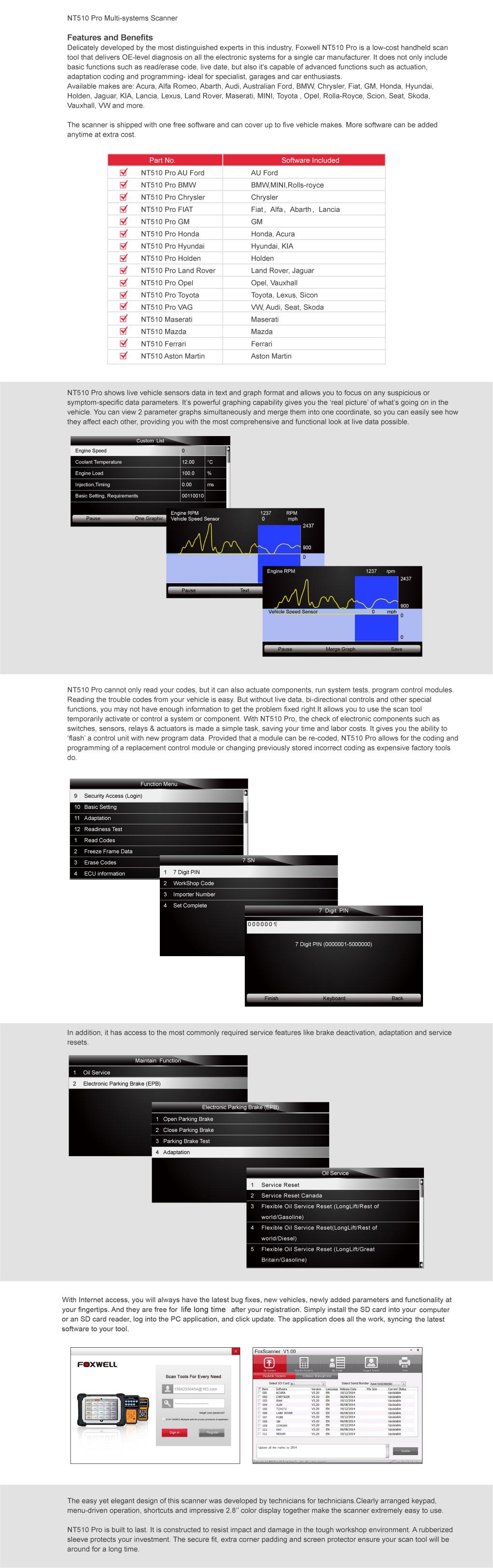 NT510 Pro Multi-System Scanner